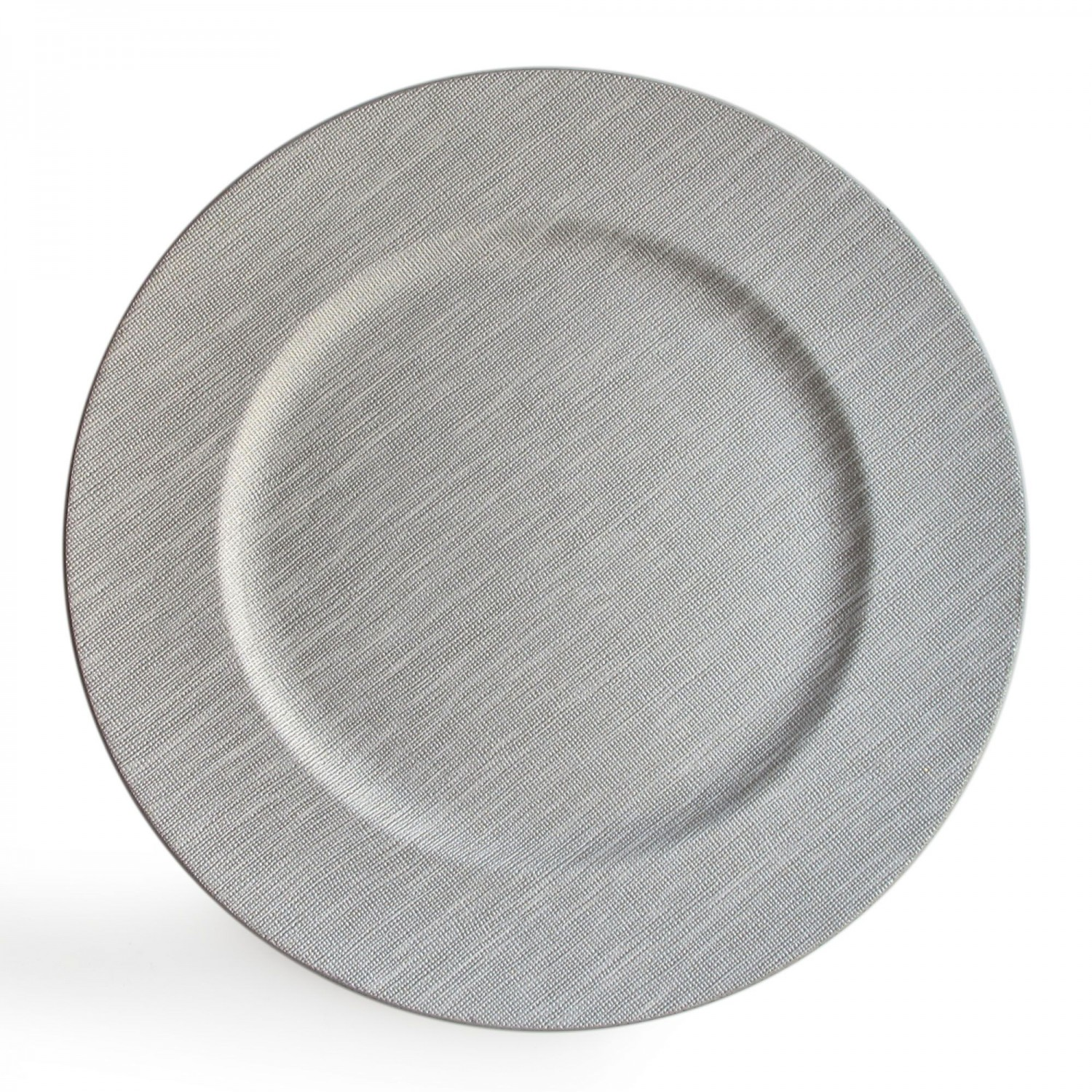 The Jay Companies 1320381 Round Textured Cool Gray Charger Plate 14""