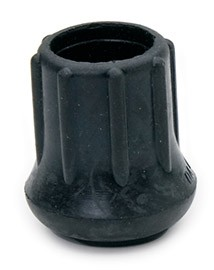 Royal CRUTCH TIP Black Rubber Crutch Tip for Barstool Legs 1""