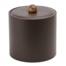 Royal IBUK DRK BRN Dark Brown Vinyl Insulated Ice Bucket 3 Qt.