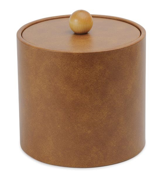 Royal IBUK LT BRN Light Brown Vinyl Insulated Ice Bucket 3 Qt. - 1 doz