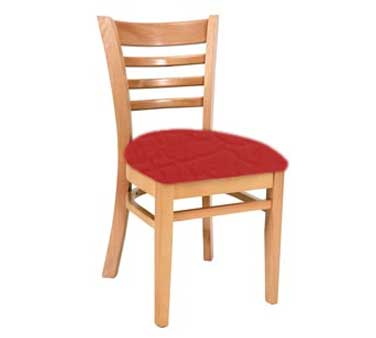 Royal Industries ROY 8001 N * European BeechWood Chairs with Natural Upholstered Seat