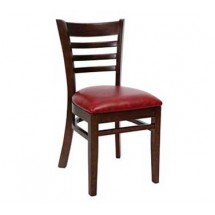 Royal Industries ROY 8001 W * European BeechWood Chairs with Natural Upholstered Seat