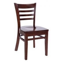 Royal Industries ROY 8001 W European BeechWood Chairs with Walnut Finish Seat