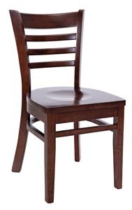 Royal Industries ROY 8001 W Ladder Back Wood With Walnut Finish Seat