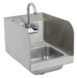 Royal Industries ROY HS 12 SP Stainless Steel Wall Mounted Hand Sink With  Splash Guard 12u0026