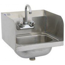 Royal Industries ROY HS 15 SP Stainless Steel Wall Mounted Hand Sink with Splash Guard 15""