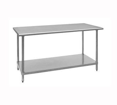 "Royal Industries ROY WT 2424 Stainless Steel Work Table 24"" x 24"""