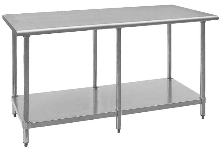 "Royal Industries ROY WT 3096 Stainless Steel Work Table 30"" x 96"""