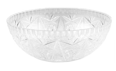 Royal NC 165 CLR Round Plastic Crystalware Bowl 8-1/2""