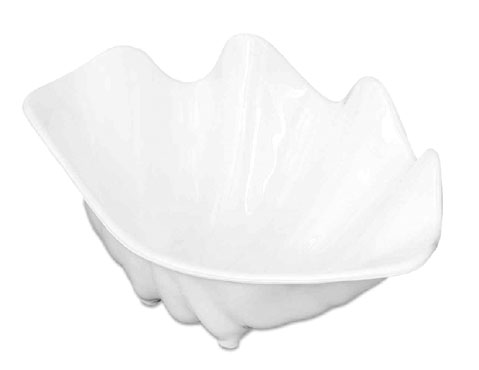 Royal NC 187 WHT White Plastic Serving Shell 10""