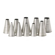 Royal PST 0 PL Stainless Steel Size 0 Pastry Tube with Plain Tip