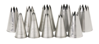 Royal PST 1 ST Stainless Steel Size 1 Pastry Tube with Star Tip