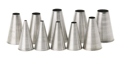 Royal PST 9 PL Stainless Steel Size 9 Pastry Tube with Plain Tip