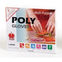 Royal RDG 601 M Poly Clear Medium Disposable Gloves