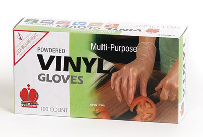 Royal RDG 701 L Powdered Vinyl Large Disposable Gloves