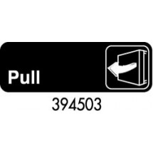 "Royal ROY 394503 Black ""Pull"" Sign 3"" x 9"""
