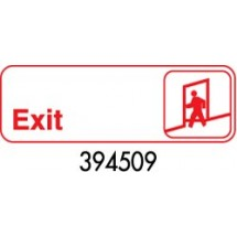 "Royal ROY 394509 White ""Exit"" Sign 3"" x 9"""
