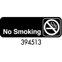 "Royal ROY 394513 Black ""No Smoking"" Sign 3"" x 9"""
