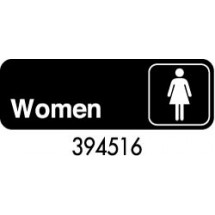 "Royal ROY 394516 Black ""Women"" Sign 3"" x 9"""
