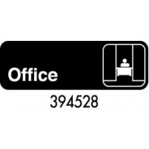 "Royal ROY 394528 Black ""Office"" Sign 3"" x 9"""