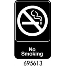 "Royal ROY 695613 Black ""No Smoking"" Sign 6"" x 9"""