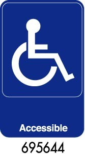 "Royal ROY 695644 Blue ""Handicapped Accessible"" Sign 6"" x 9"""