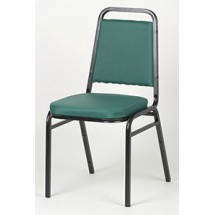 Royal ROY 718 GN Green Vinyl Square Back Stacking Chair