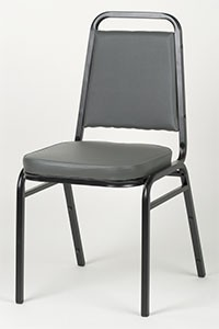 Royal ROY 718 GY Gray Vinyl Square Back Stacking Chair