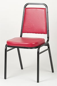 Royal ROY 718 R Red Vinyl Square Back Stacking Chair