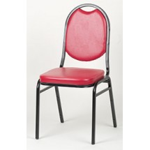 Royal ROY 719 R Red Vinyl Round Back Stacking Chair