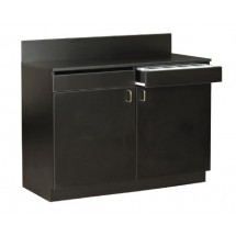 Royal ROY 729 BA Assembled Waitress Station with Black Finish 4 Ft.