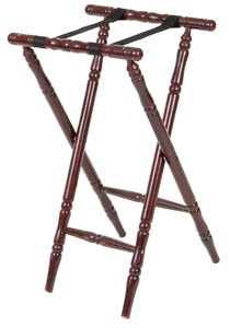 Royal ROY 776 Turned Leg Walnut Tray Stand 32
