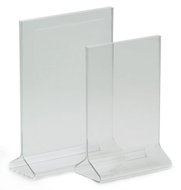 "Royal ROY ACH 35 Clear Acrylic Card Holder 3-1/2"" x 5"""