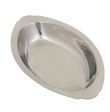 Royal ROY AOSS 720 Oval Stainless Steel Au Gratin Dish 20 oz.