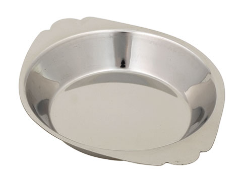 Royal ROY ARSS 810 Stainless Steel Round Au Gratin Dish 10 oz.