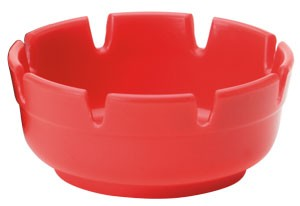 Royal ROY ASH 263 RED Deep Dish Deluxe Plastic Ashtray - 1 doz