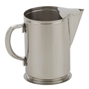 Royal ROY B 600 Stainless Steel 64 Oz. Water Pitcher with Ice Guard