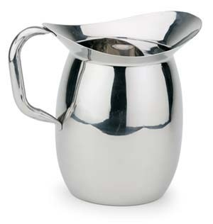 Royal ROY B 605 Stainless Steel 3 Qt. Water Pitcher with Ice Guard