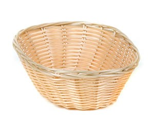 "Royal ROY BP 2 Oval Polypropylene Rattan Basket 8-1/2"" x 6-1/2"" - 1 doz"
