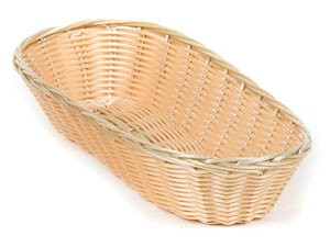 "Royal ROY BP 3 Polypropylene Rattan Loaf Basket 9-1/2"" x 3-1/4"" - 1 doz"