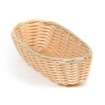"Royal ROY BP 4 Polypropylene Rattan Cracker Basket 9"" x 4"" - 1 doz"