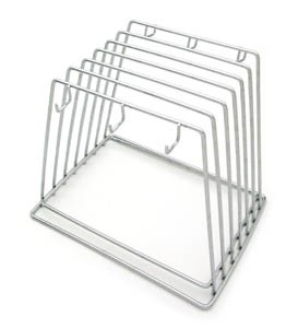 Royal ROY CB RACK 6 Slot Stainless Steel Cutting Board Rack 9""