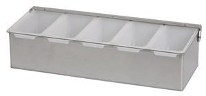 Royal ROY CDS 5 Stainless Steel 5 Compartment Condiment Dispenser with Plastic Inserts