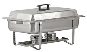 Royal ROY COH 2 Stainless Steel Rectangular Continental Chafer 8 Qt.