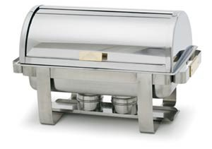 Royal Industries Roy Coh 4 Roll Top Stainless Steel Chafer 8 Qt