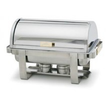 Royal Industries ROY COH 4 Roll Top Stainless Steel Chafer 8 Qt.