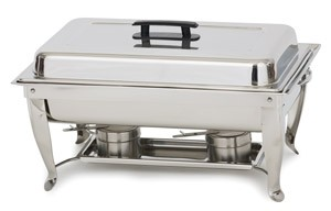 Royal ROY COH 6 Stainless Steel Rectangular Continental Chafer 8 Qt.
