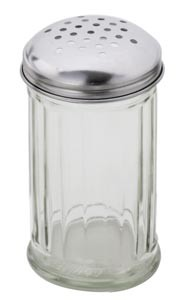 Royal ROY CS 12 G 12 Oz. Perforated Cheese Shaker with Stainless Steel Lid - 1 doz