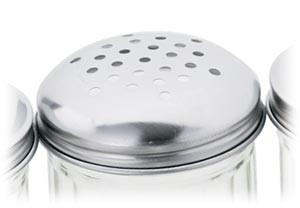 Royal ROY CS 12 L Stainless Steel Perforated 12 Oz. Cheese Shaker Lid Replacement - 1 doz