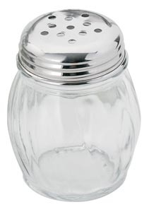 Royal ROY CS 6 P 6 Oz. Perforated Cheese Shaker with Stainless Steel Lid - 1 doz